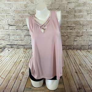 Caution to the wind light pink sleeveless small